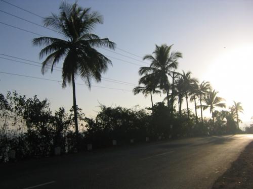 по дороге в Панаджи