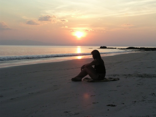 Закат на пляже №7
