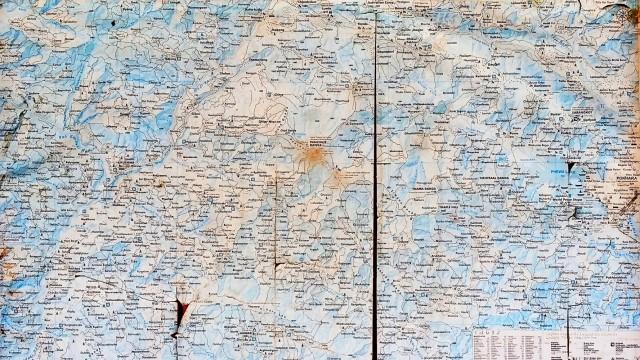 Карта р-на Панчасе на стене пункта наблюдений
