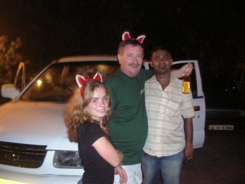 дочь, муж и Шади после Кабаны.