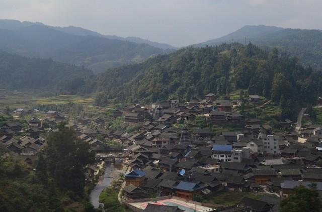 деревня недалеко от станции conjiang