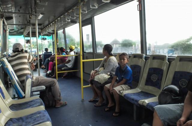 Автобусы почти всегда полупустые