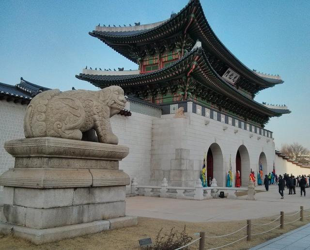 Кёнбоккун дворец в Сеуле, главный вход