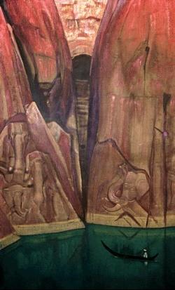 """Рерих Н.К.: Ашрам. Серия """"Ашрамы"""".  1931. Музей Н.К.Рериха, Нью-Йорк"""