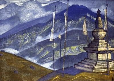 """Рерих Н.К.: Волны тумана. Серия """"Гималаи"""". 1924."""