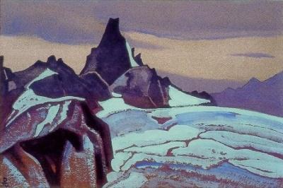 Рерих Н.К.: Гималаи. 1936. Государственный художественный музей, Рига, Латвия. Музей Н.К. Рериха, Нью-Йорк