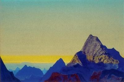 Рерих Н.К.: Гималайское утро. 1937. Государственный художественный музей, Рига, Латвия