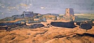 Рерих Н.К.: Город Дже-Ламы. 1928.