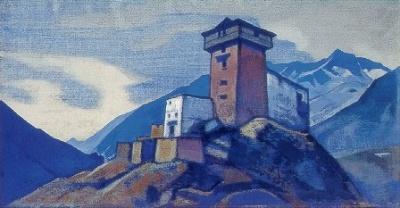 Рерих Николай: Монастырь в Сиссу. Лахул. 1932. Государственный художественный музей, Рига, Латвия