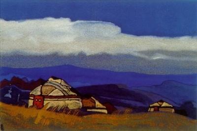 Рерих Николай: Монголия (Олун Суме). 1936. Государственный художественный музей, Рига, Латвия