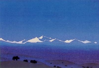 Рерих Николай: Наньшань, граница Тибета. 1936. Государственный художественный музей, Рига, Латвия