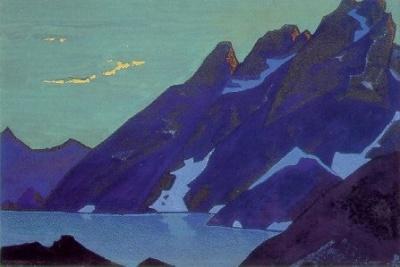 Рерих Николай: Озеро Нагов. Кашмир. 1937. Государственный художественный музей, Рига, Латвия