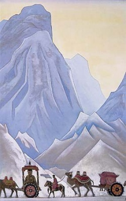 Рерих Николай: Приданое китайской принцессы Вен-Чин. 1928-1930.