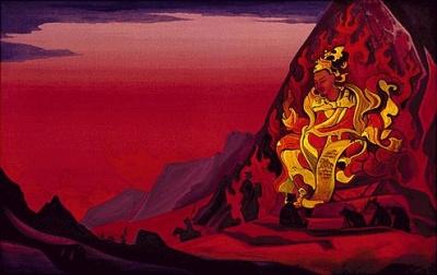 Рерих Николай: Приказ Ригден Джапо.1927. Музей Н.К.Рериха, Нью-Йорк