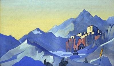 Рерих Николай: Путь на Кайлас. Монастырь. 1932. Музей Н.К.Рериха, Нью-Йорк