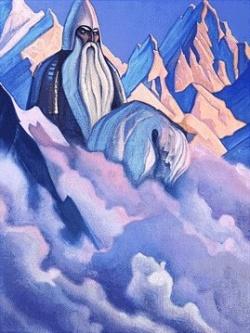 Рерих Николай: Святогор. 1942. Государственный музей Востока, Москва (временно)