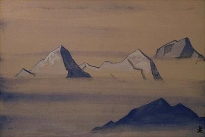 Рерих Николай: Священные Гималаи (Бело-Синие горы). 1933. Музей Н.К.Рериха, Нью-Йорк
