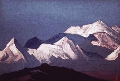 Рерих Николай: Священные Гималаи (Розовые горы). 1933. Музей Н.К.Рериха, Нью-Йорк