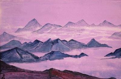 Рерих Николай: Священные Гималаи (Синие горы). 1933. Музей Н.К.Рериха, Нью-Йорк
