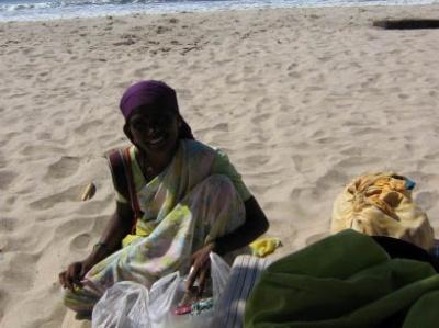 Торговка на пляже