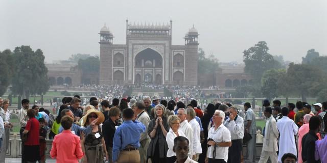 туристы - тоже лица Индии