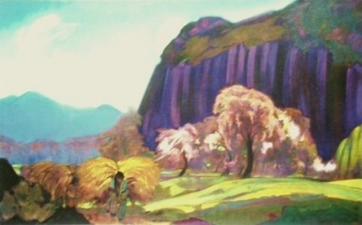Святослав Рерих: Весна в Кулу. 1939. Карнатака Читракала Паришатх, Бангалор, Индия