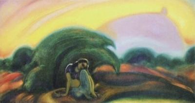 Святослав Рерих: Вечер. 1946. Карнатака Читракала Паришатх, Бангалор, Индия