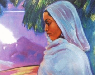 Святослав Рерих: Гаури, хариджанка. 1934. Карнатака Читракала Паришатх, Бангалор, Индия