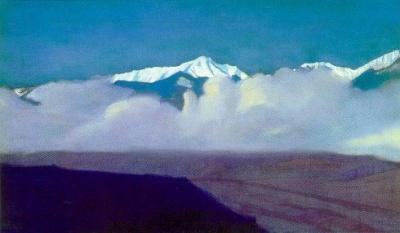 Рерих С.Н.: Горы за туманом. 1935. Международный Центр-Музей им. Н.К.Рериха, Москва