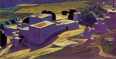 Рерих С.Н.: Гундла. 1934.  Государственный художественный музей, Рига, Латвия