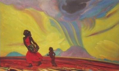 Рерих С.Н.: Дары земли. 1953. Государственный музей Востока, Москва (временно)