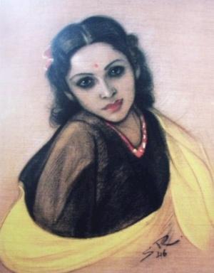 Рерих С.Н.: Девика Рани Рерих. 1946. Карнатака Читракала Паришатх, Бангалор, Индия