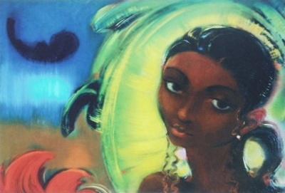 Рерих С.Н.: Девушка из племени. 1950. Государственный музей Востока, Москва (временно)