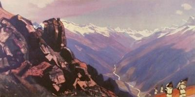 Рерих Святослав Николаевич: Долина Манали. 1934. Шри Читра Арт Галлери, Тривандрам, Индия