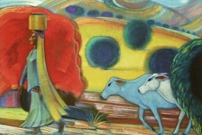 Святослав Николаевич Рерих: Женщина из племени гадди. 1961.  Государственный музей Востока, Москва (временно)