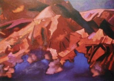 Рерих С.Н.: Закат в Гималаях. 1934. Карнатака Читракала Паришатх, Бангалор, Индия