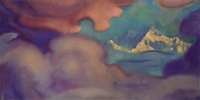 Святослав Рерих: Канченджанга. Цитадель. 1954. Государственный музей Востока, Москва (временно)