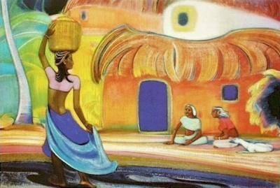 Рерих Святослав: Мои соседи. 1961. Государственный музей Востока, Москва (временно)
