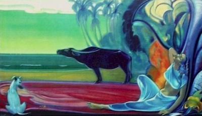 Рерих Святослав: Молчание (Тишина). 1964. Государственный музей Востока, Москва (временно)