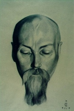 Святослав Рерих: Н.К.Рерих. 1924. Государственный художественный музей, Рига, Латвия