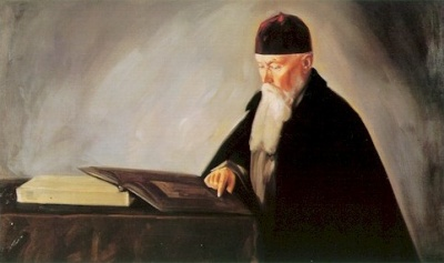 Картина Святослава Рериха: Н.К.Рерих. 1942.