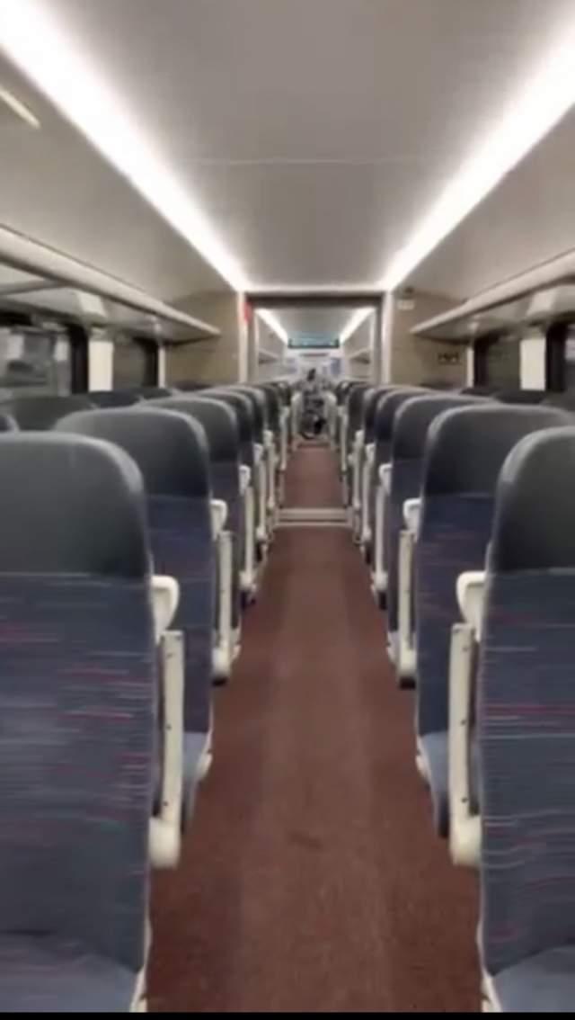 поезд в аэропорт, я тоже одна в вагоне