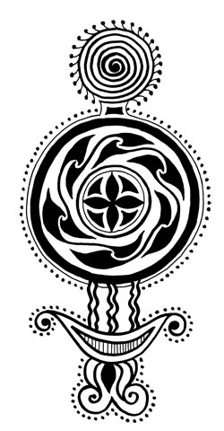Индийский этнический орнамент