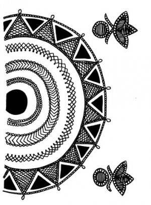 Индийский национальный орнамент