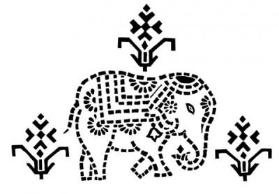 Этнический орнамент Индии