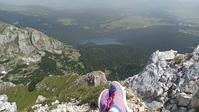 Вид на Чёрное озеро