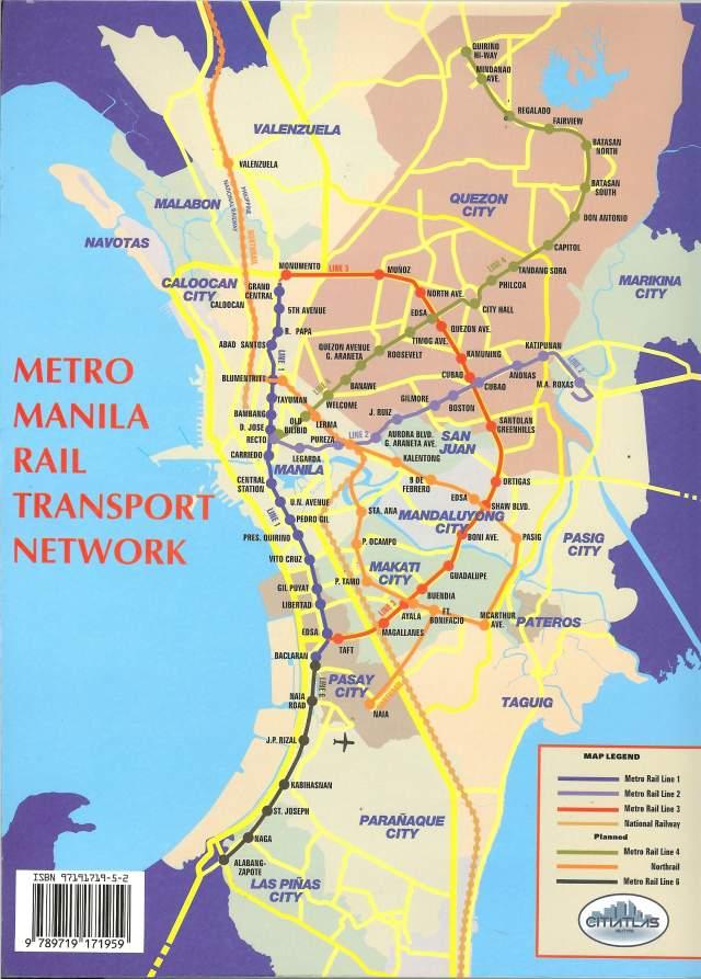 Карта Большой Манилы