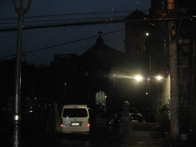 Церковь Святого Августина и музей при ней. Вид из соседнего бара %-)))