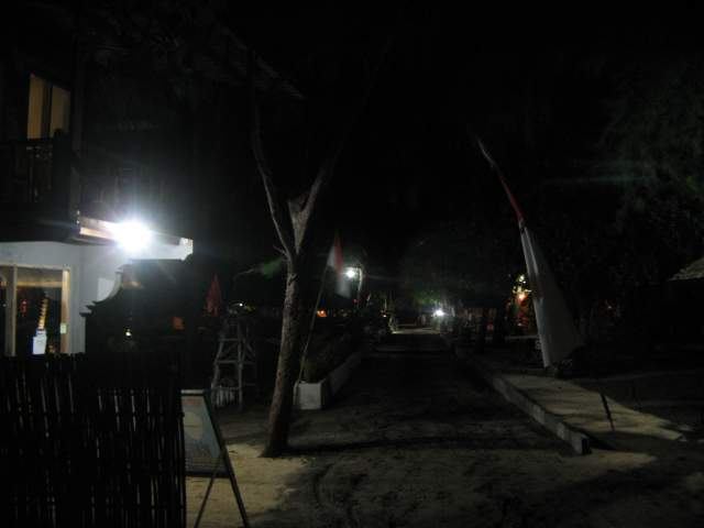 Береговая Дорога ночью на юге Острова
