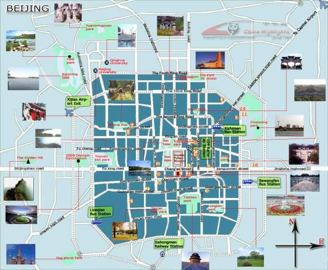Карта Пекина №4